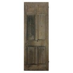 Six Panelled Beaded Pine Old Door, 20th Century