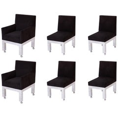 Six Paul Evans 'Cityscape' Dining Chairs