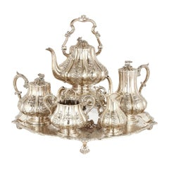 Six-Piece English Silver Tea and Coffee Service