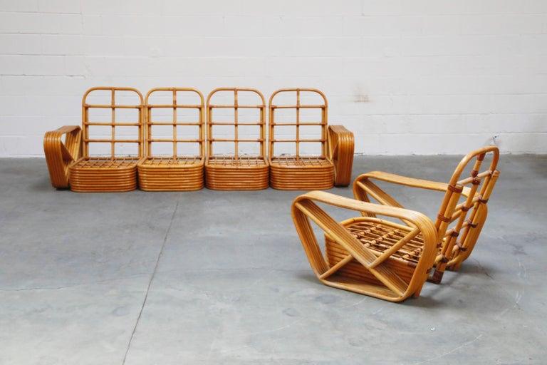 A large six (6) piece Paul Frankl style