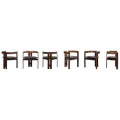 Six 'Pigreco' Chairs by Tobia Scarpa and Emilio Mantese