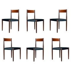 Six Poul Volther for Frem Røjle Danish Teak Dining Chairs