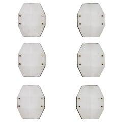 Six Rare Model 12880 Wall/Ceiling Lights by Elio Monesi for Arredoluce