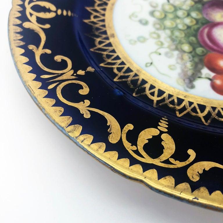 Six Regency Hand Painted Porcelain Plates by Coalport, circa 1805 For Sale 4