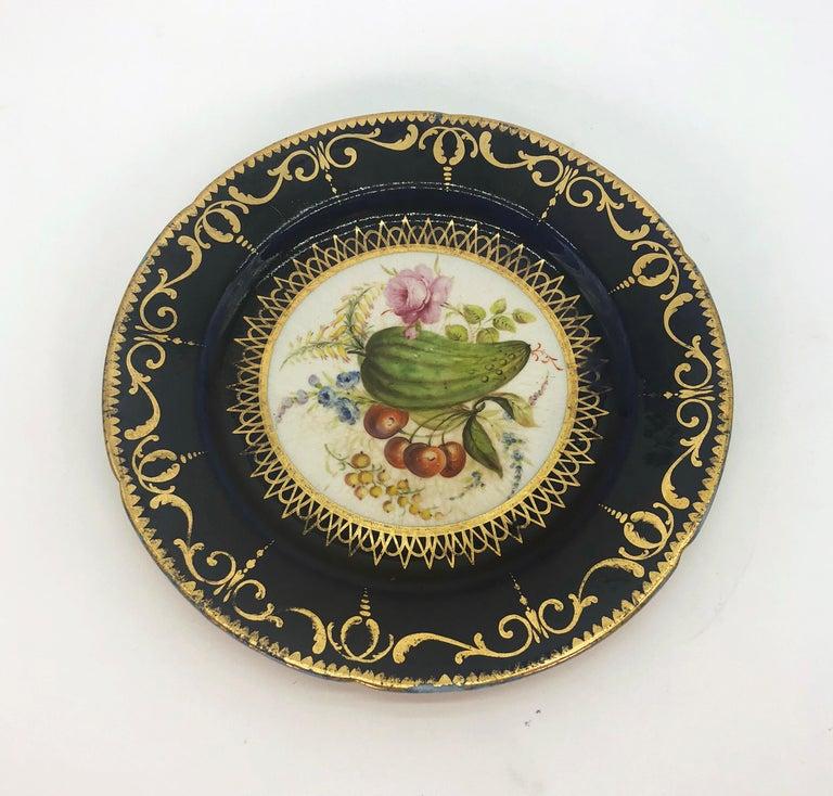 Six Regency Hand Painted Porcelain Plates by Coalport, circa 1805 For Sale 2