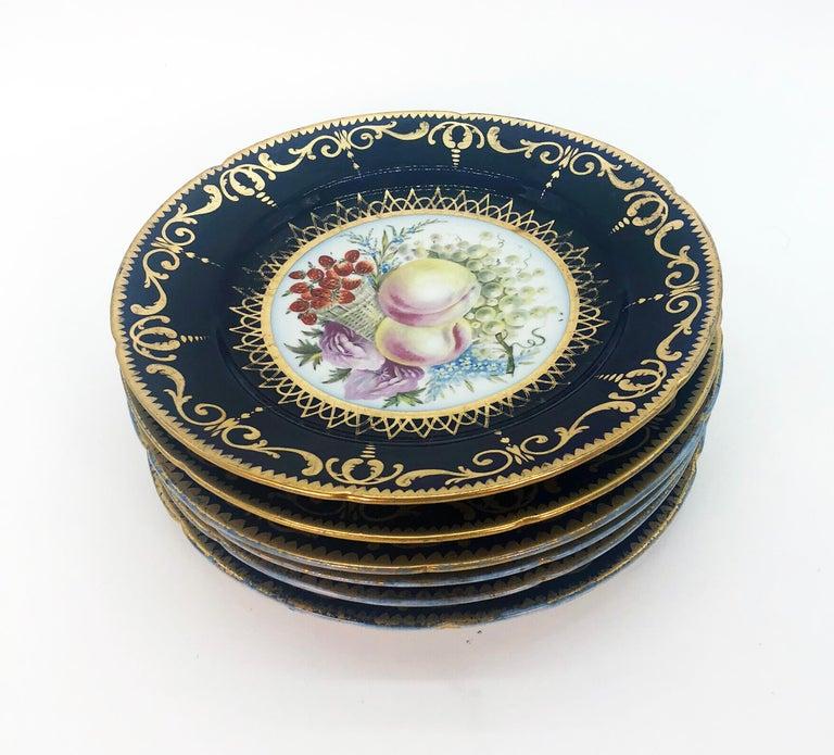 Six Regency Hand Painted Porcelain Plates by Coalport, circa 1805 For Sale 3