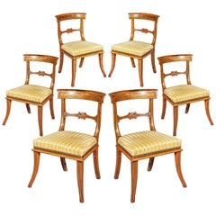Six Regency Klismos Dining Chairs, Attributed to George Oakley