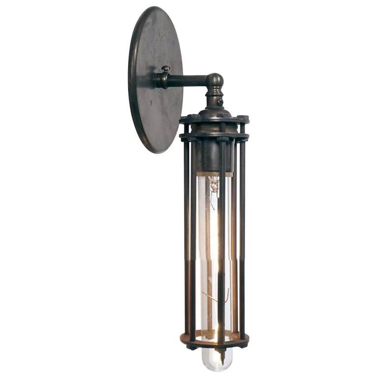 Six Rod Cage Sconce For Sale