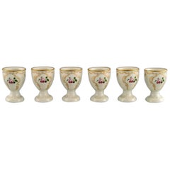 Six Rosenthal Classic Rose Egg Cups in Hand Painted Porcelain, Mid-20th Century