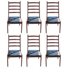 Six Rosewood Danish Dining Chairs