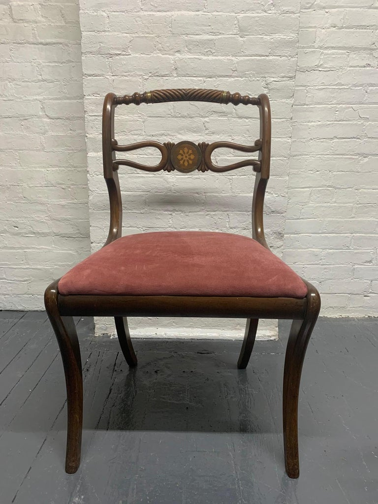 Six Rosewood English Regency Style Dining Room Chairs For Sale 1