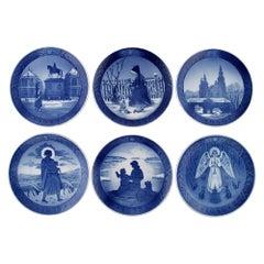 Six Royal Copenhagen Christmas Plates from 1954-1959