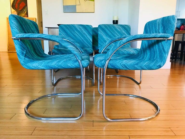 "Italian Six Saporiti Italia ""Lens"" Chairs with Missoni Fabric For Sale"
