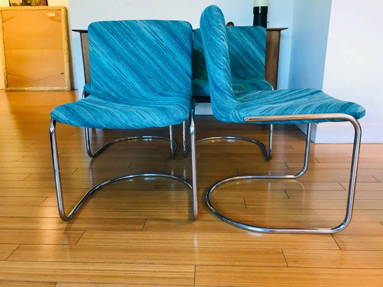 "20th Century Six Saporiti Italia ""Lens"" Chairs with Missoni Fabric For Sale"