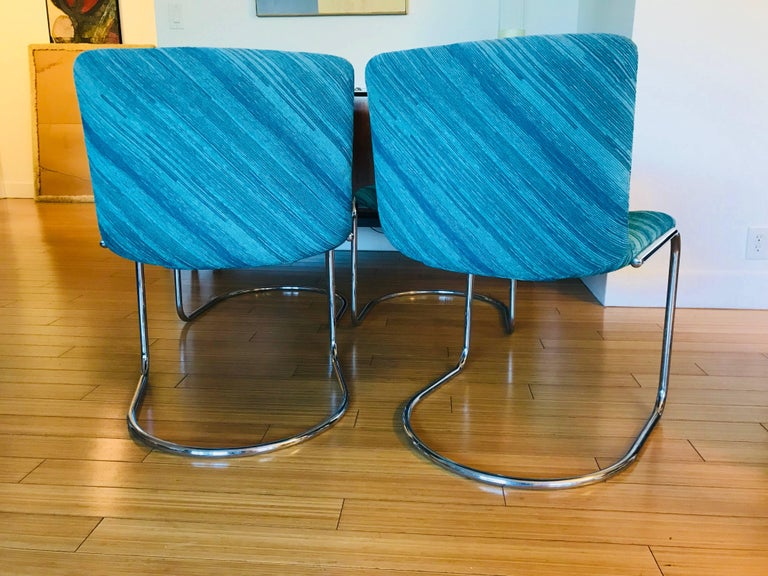 "Six Saporiti Italia ""Lens"" Chairs with Missoni Fabric For Sale 1"