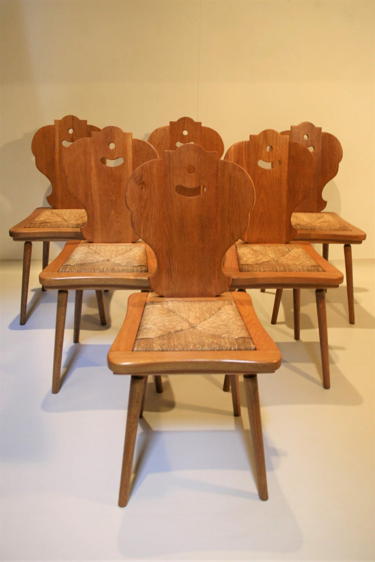 Scandinavian Modern Six Scandinavian Midcentury Dining Chairs For Sale
