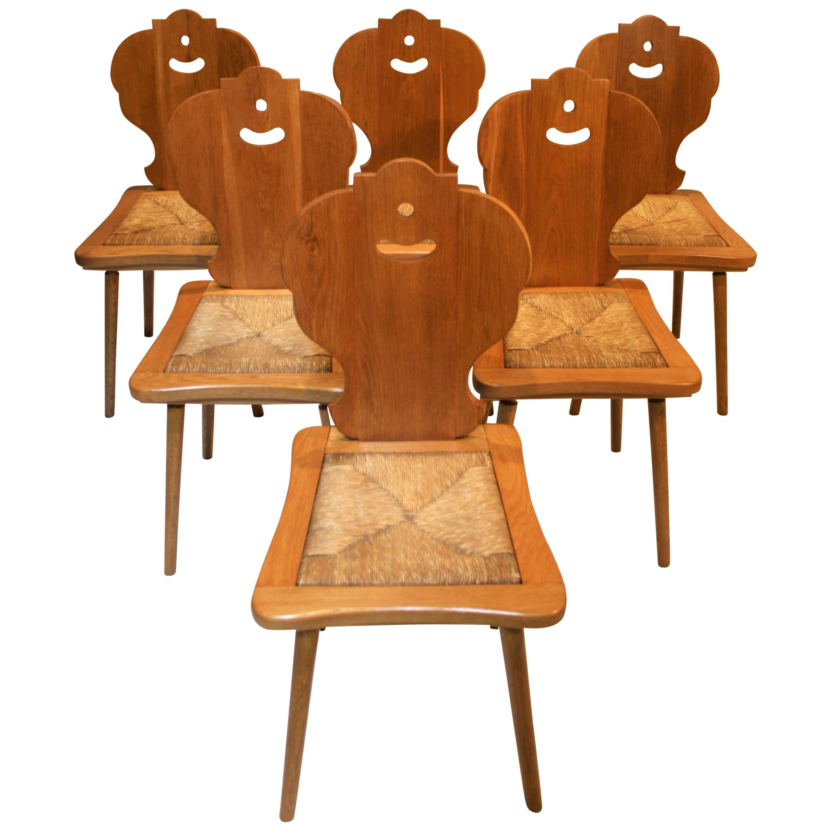 Six Scandinavian Midcentury Dining Chairs
