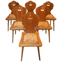 Six Scandinavian Midcentury Dining Chairs