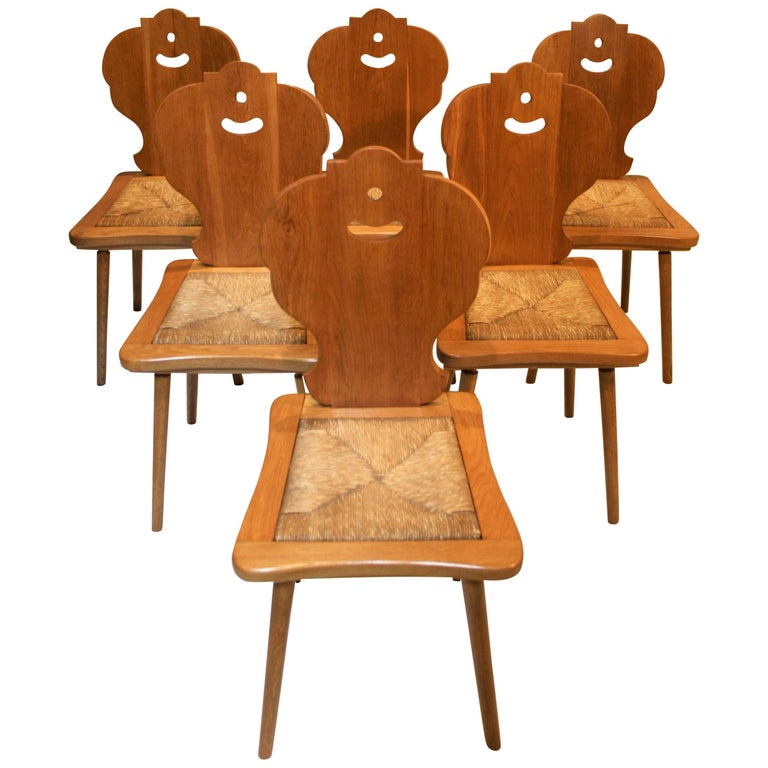 Six Scandinavian Midcentury Dining Chairs For Sale