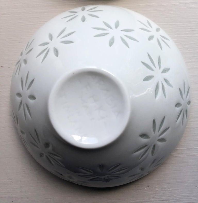 Six Scandinavian Modern Rice Grain Bowls by Friedl Holzer-Kjellberg, Arabia For Sale 4