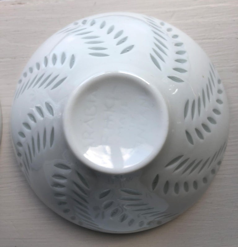 Six Scandinavian Modern Rice Grain Bowls by Friedl Holzer-Kjellberg, Arabia For Sale 5