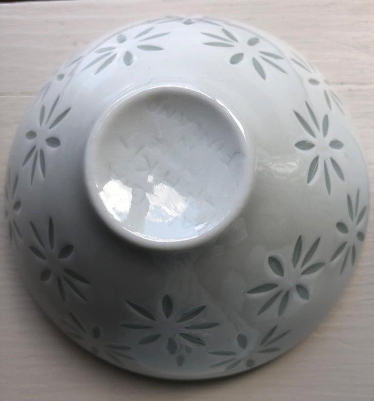 Six Scandinavian Modern Rice Grain Bowls by Friedl Holzer-Kjellberg, Arabia For Sale 6