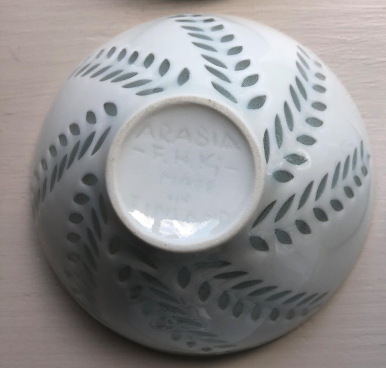 Six Scandinavian Modern Rice Grain Bowls by Friedl Holzer-Kjellberg, Arabia For Sale 7