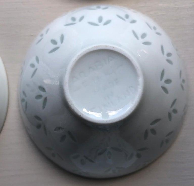 Six Scandinavian Modern Rice Grain Bowls by Friedl Holzer-Kjellberg, Arabia For Sale 8
