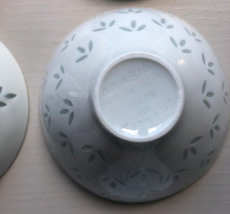 Six Scandinavian Modern Rice Grain Bowls by Friedl Holzer-Kjellberg, Arabia For Sale 9
