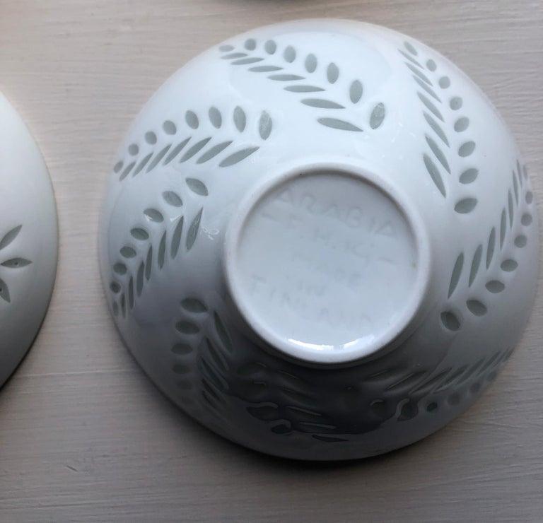 Six Scandinavian Modern Rice Grain Bowls by Friedl Holzer-Kjellberg, Arabia For Sale 10