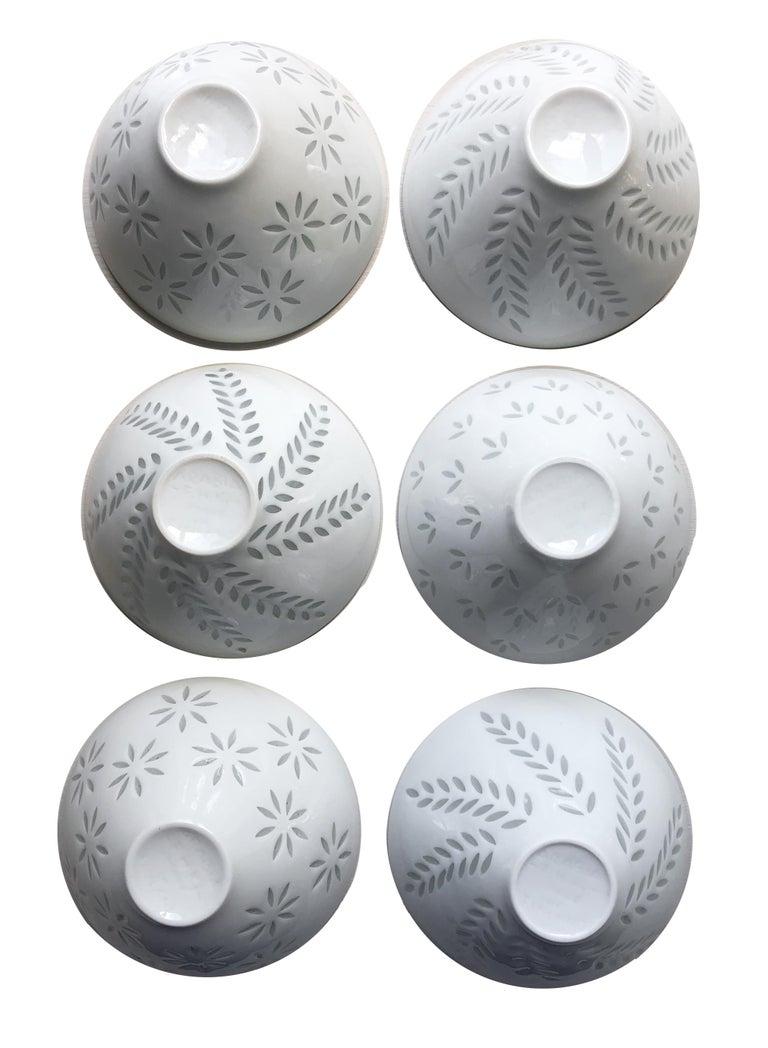 Swedish Six Scandinavian Modern Rice Grain Bowls by Friedl Holzer-Kjellberg, Arabia For Sale