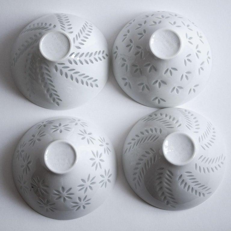 Six Scandinavian Modern Rice Grain Bowls by Friedl Holzer-Kjellberg, Arabia In Good Condition For Sale In Stockholm, SE