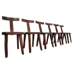 Six Sculptural Chairs by Olavi Hänninen for Mikko Nupponen, Finland, 1950s