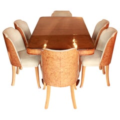 Art Deco Six-Seater Dining Suite by Harry & Lou Epstein