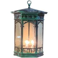 Six Sides Bronze Hanging Lantern