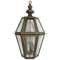 Six Sides Hanging Copper Lantern