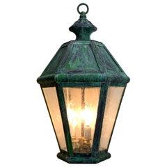 Six Sides Solid Brass Hanging Lantern