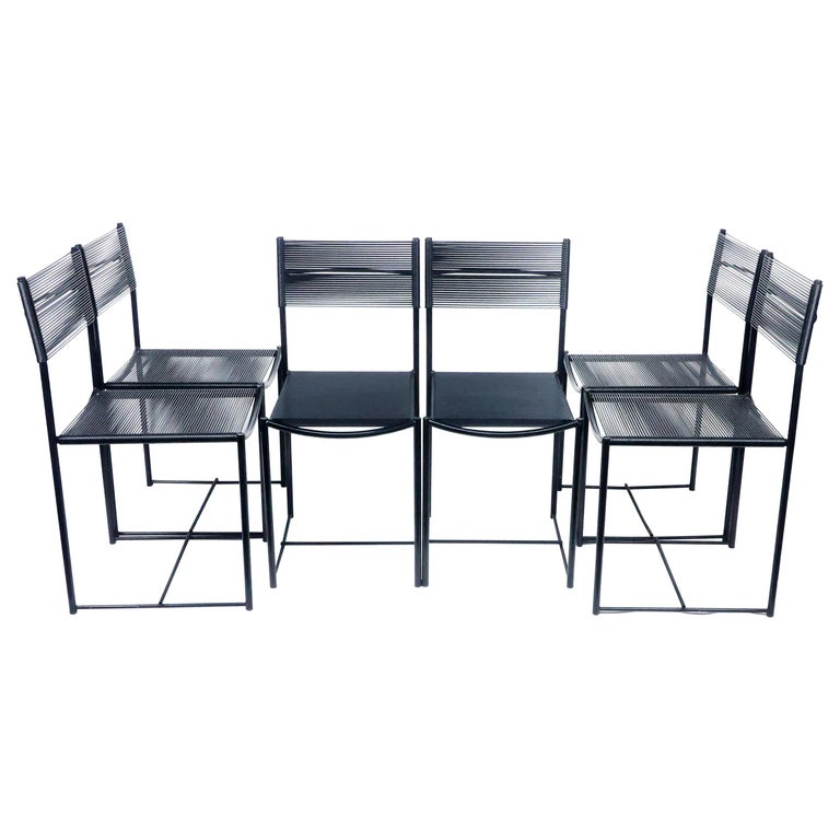 "Six ""Spaghetti"" Dining Chairs by Giandomenico Belotti for Alias For Sale"