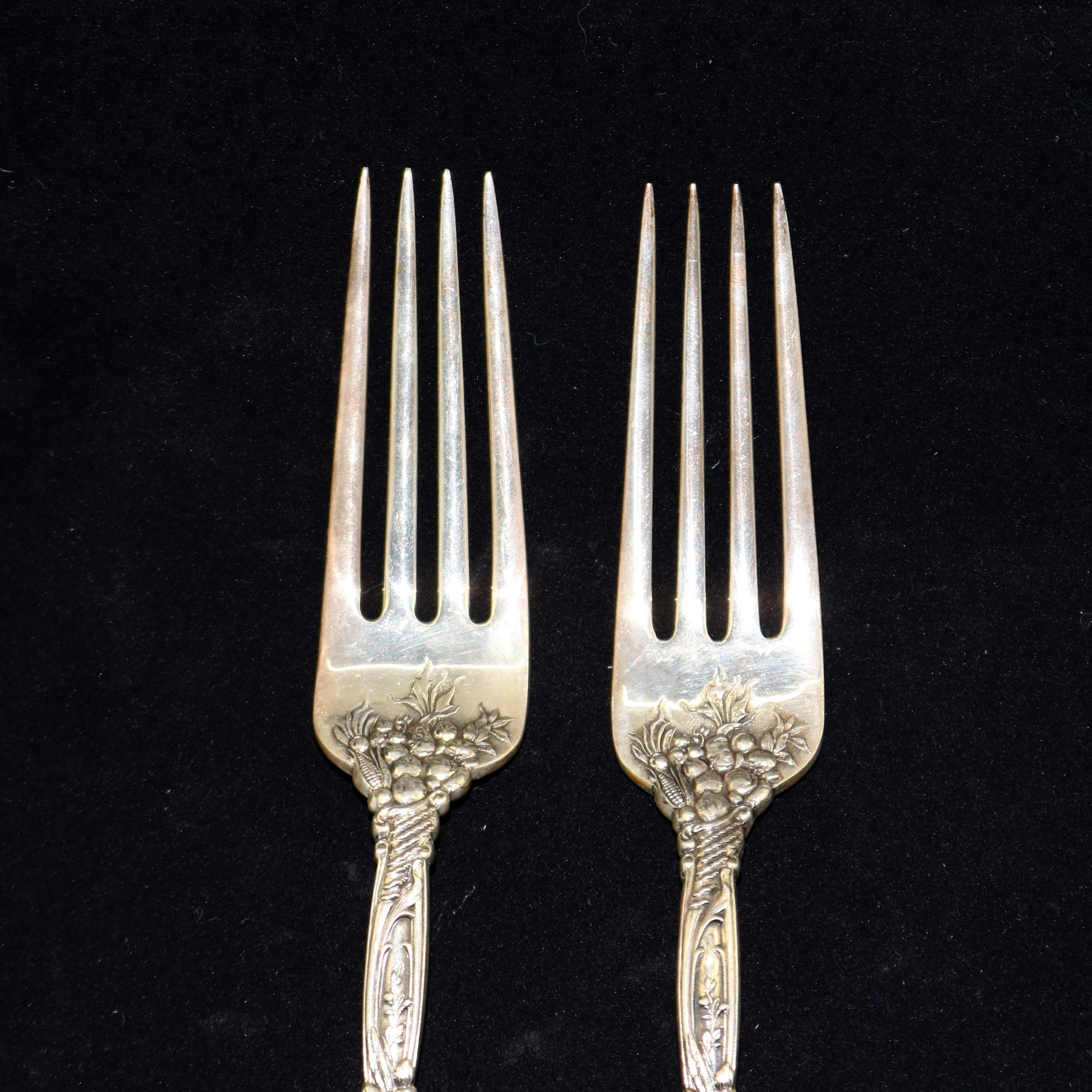 """King by Dominick /& Haff Sterling Silver Pie Fork 3-Tine 7/"""""""