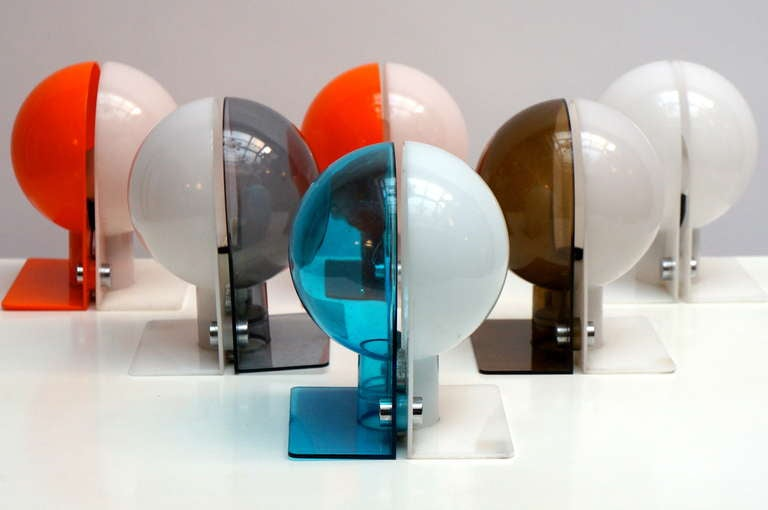 Six Table or Wall Lamps by Guzzini In Good Condition For Sale In Antwerp, BE