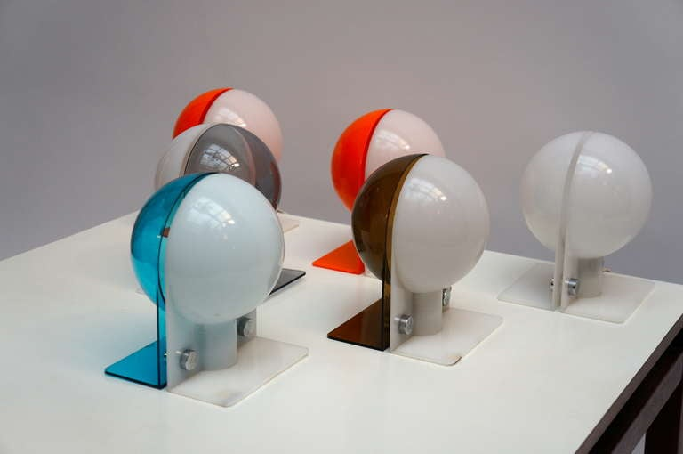 20th Century Six Table or Wall Lamps by Guzzini For Sale