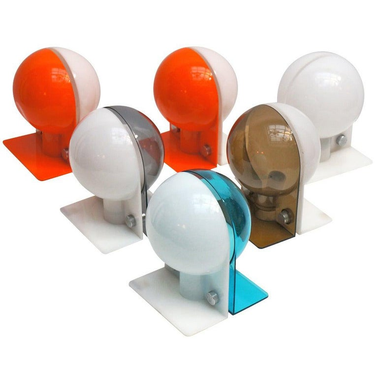 Six Table or Wall Lamps by Guzzini For Sale