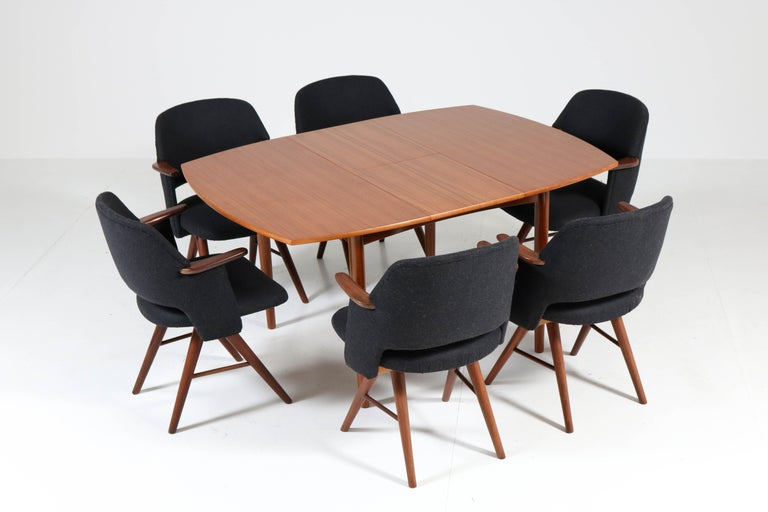 Six Teak Mid-Century Modern FE30 Dining Chairs by Cees Braakman for Pastoe, 1960 For Sale 6