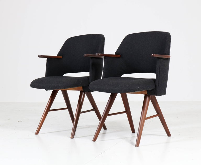 Mid-20th Century Six Teak Mid-Century Modern FE30 Dining Chairs by Cees Braakman for Pastoe, 1960 For Sale