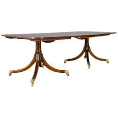 Six to Eight Seat, Extending Dining Table in Regency Taste, Mahogany