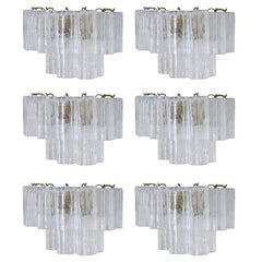 Six Tronchi Sconces by Venini