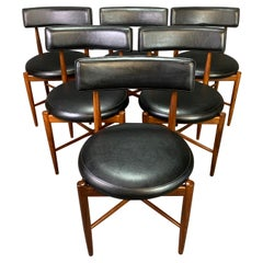 Six Vintage British Mid Century Teak Dining Chairs by Victor Wilkins for G Plan