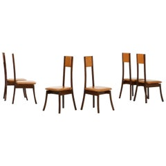 Six Vintage Chairs by Angelo Mangiarotti, Italy, 1970s