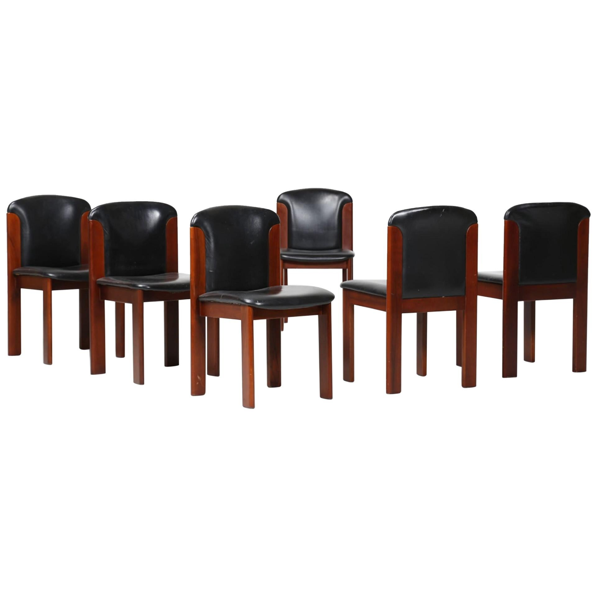 Six Vintage Chairs by Silvio Coppola, Italy, 1960s