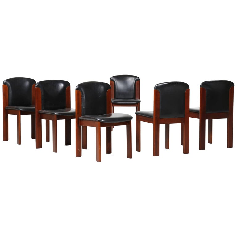 Six Vintage Chairs by Silvio Coppola, Italy, 1960s For Sale